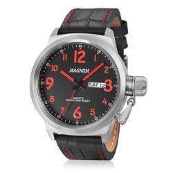 Relógio Masculino Magnum MA33415V Couro Preto