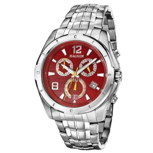 Relógio Masculino Magnum Chronograph MA33488V Fundo Vermelho