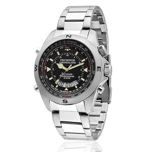 Relógio Masculino Technos performance Skydive T20565/1P em aço