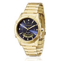 Relógio Feminino Technos Elegance Skydiver T205FS/4A dourado com cristais