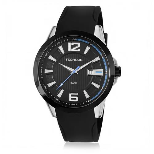 Relógio Masculino Technos Performance Racer 2115KNW/8P Borracha