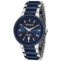 Relógio Feminino Technos Ceramic Sapphire 2115KRT/1A Azul