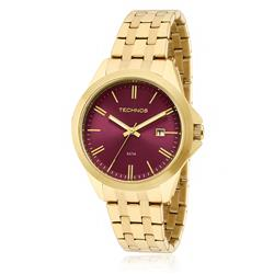 Relógio Feminino Technos Analógico 2115KRX/4T Fundo Vinho