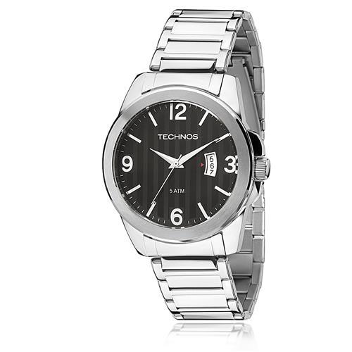 Relógio Masculino Technos Steel 2115KSA/1P Fundo Preto