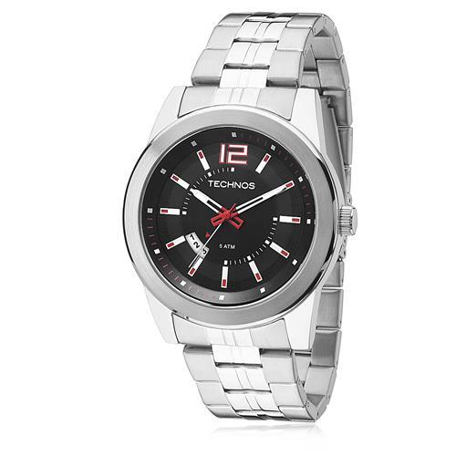 Relógio Masculino Technos Performance Racer 2115KSV/1R Fundo Preto