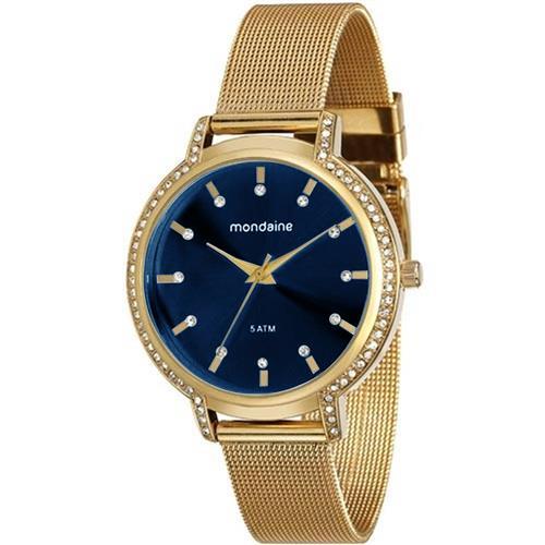 Relógio Feminino Mondaine Analógico 76508LPMGDE3 Fundo Azul