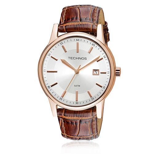 Relógio Masculino Technos Classic Steel 2115RQ/2K Aço Rose