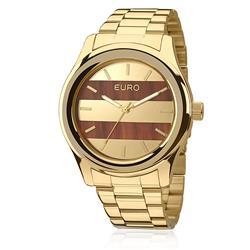 Relógio Feminino Euro Madeira Fashion Analógico EU2036MAA/4L Dourado