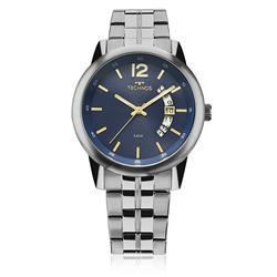 Relógio Masculino Technos Steel 2315KZM/1A Fundo Azul