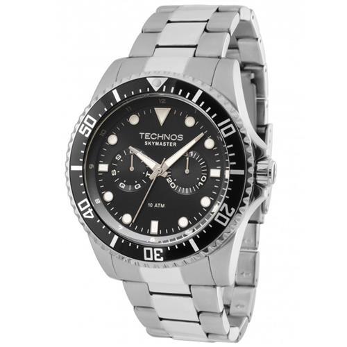 Relógio Masculino Technos Skymaster 6P25BG/1P Fundo Preto