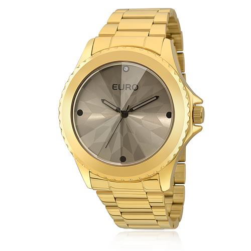 Relógio Feminino Euro Fumê Analógico EU2035YCE/4C Dourado