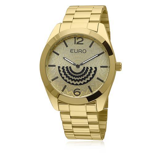 Relógio Feminino Euro Fan Analógico EU2034AN/4D Dourado
