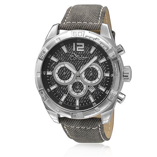 Relógio Masculino Condor Analógico COVD33AK/3P em couro cinza