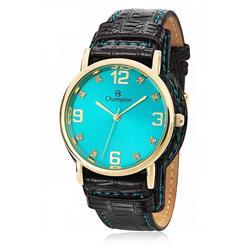 Relógio Feminino Champion Analógico CN20186F Fundo Azul Turquesa