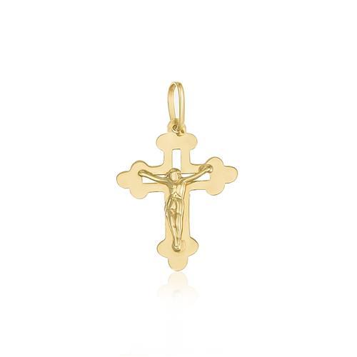 Pingente Crucifixo em ouro amarelo