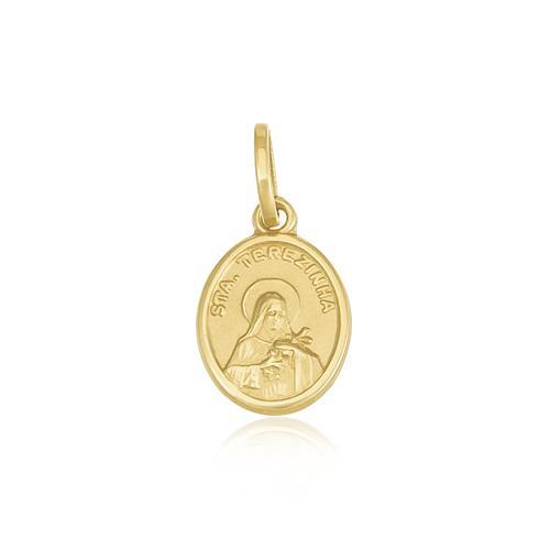 Pingente Santa Terezinha em ouro amarelo