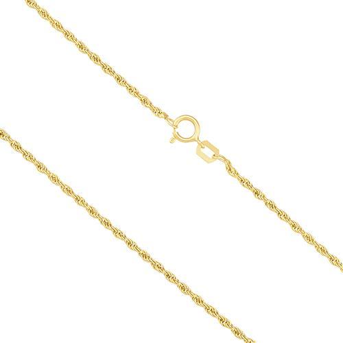 Corrente Malha Corda 60 cm, em Ouro Amarelo
