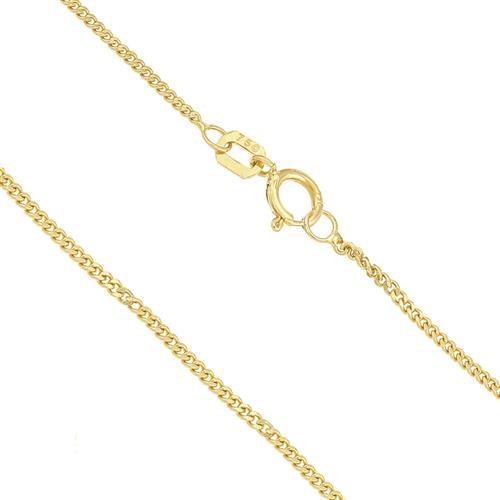 Corrente Elos Grumet com 60 cm, em Ouro Amarelo