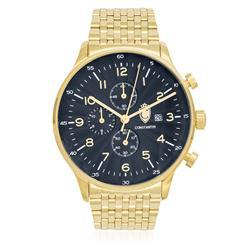 Relógio Constantim Gold Blue ZW20038A Aço Dourado
