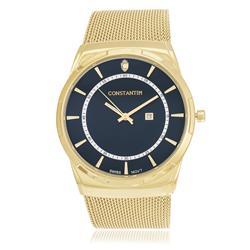 Relógio Constantim Gold Blue ZW20010A Pulseira Esteira