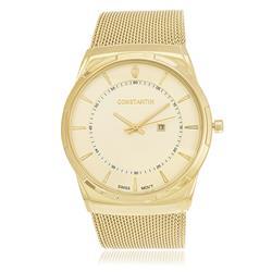 Relógio Constantim Gold ZW20010G Pulseira Esteira