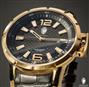 Relógio Constantim Lucern Executive Gold Black ZW30205U Couro