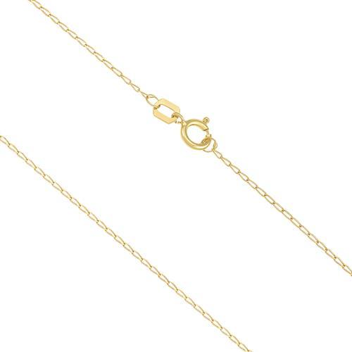 Corrente Feminina Elos Ovais com 50 cm,1 grama em Ouro Amarelo