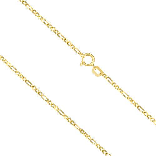 Corrente Elos Figaro com 60 cm, em Ouro Amarelo