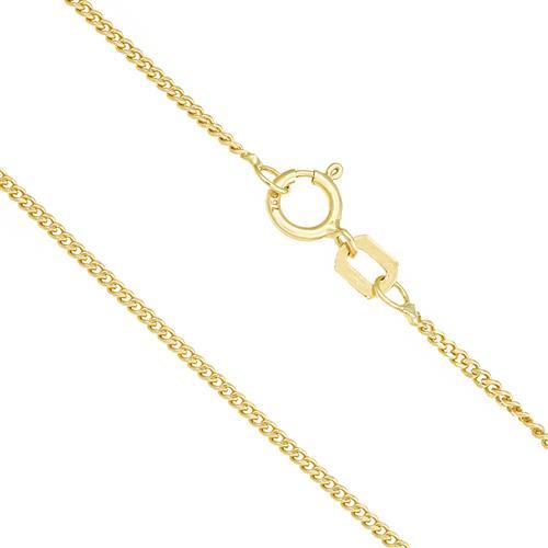 Corrente Elos Grumet com 50 cm, em Ouro Amarelo