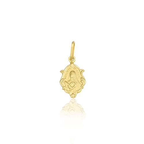 Pingente Santa Rita de Cassia em ouro amarelo