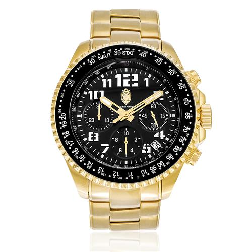 Relógio Constantim Chronograph Gold Black ZW30198U Dourado