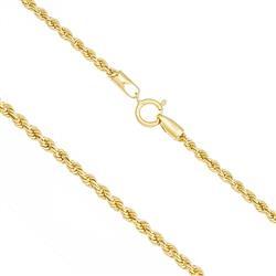 Corrente Feminina malha Corda com 45 cm em Ouro Amarelo