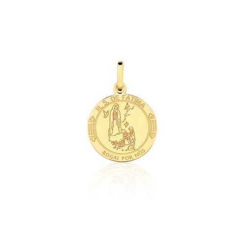 Pingente Nossa Senhora de Fátima, em Ouro Amarelo