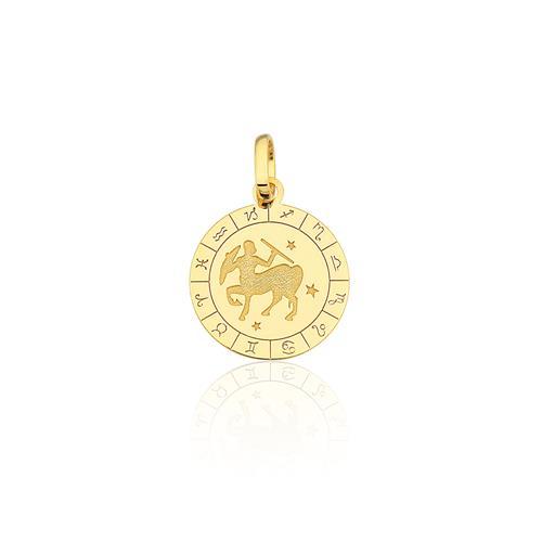 Pingente Signo Sagitário, em Ouro Amarelo