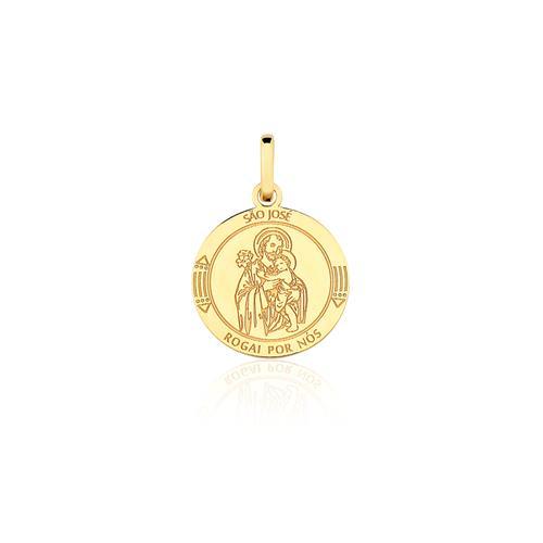 Pingente São José, em Ouro Amarelo