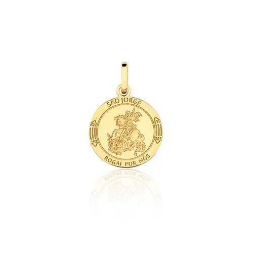 Pingente São Jorge, em Ouro Amarelo