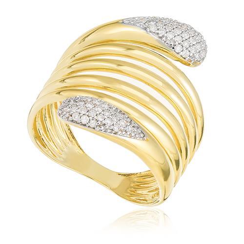 Anel com 6 Aros e 56 Pts em Diamantes, em Ouro Amarelo