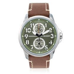 Relógio Masculino Orient Analógico MBSCM010 E2NB Couro Marrom