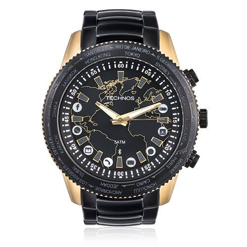 Relógio Masculino Technos Connect 753AA/4P Aço Negro