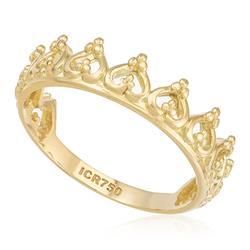 Anel Coroa, em Ouro Amarelo