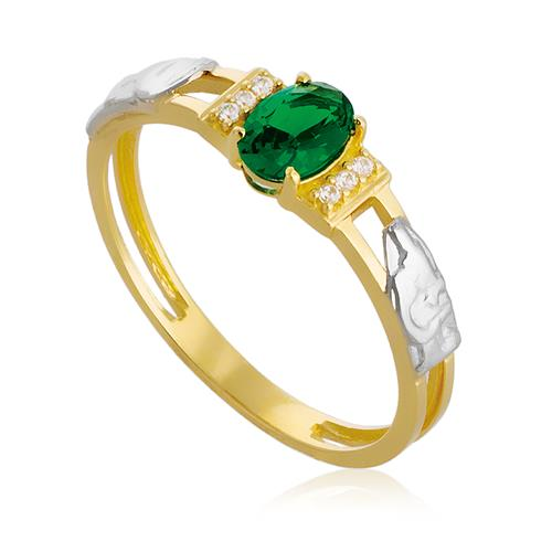 Anel de Formatura com Diamantes, em Ouro Amarelo