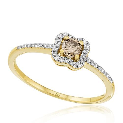 Anel com 1,2 Cts em Diamantes, em Ouro Amarelo
