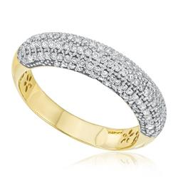Anel com 81 Pts em Diamantes, em Ouro Amarelo