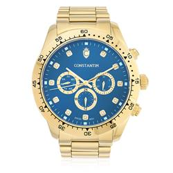 Relógio Constantim Daytona Gold Blue ZW30278Z Fundo Azul