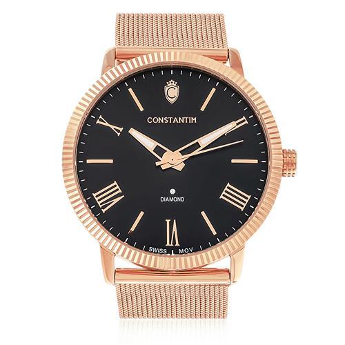 Relógio Constantim Diamond Rose Black ZW20092P Fundo Preto