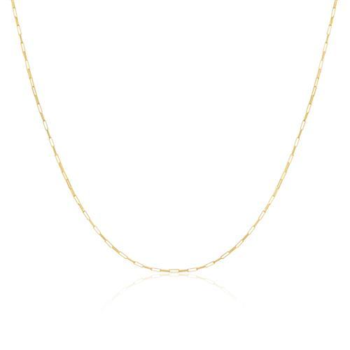 Corrente Elos Cartier com 50 cm em Ouro Amarelo