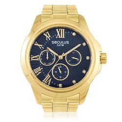 Relógio Seculus Analógico 28829LPSVDS6 Fundo Azul