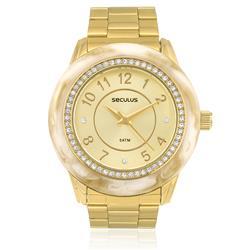 Relógio Feminino Seculus Moda Analógico 60661LPSVDS1 Dourado
