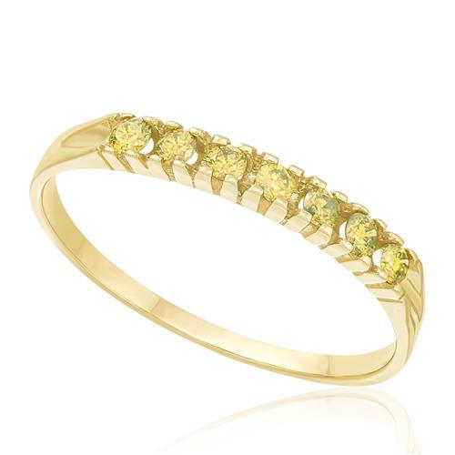 Meia Aliança com Diamantes Amarelos totalizando 15 pts., com Acabamento em Ouro Amarelo 47674