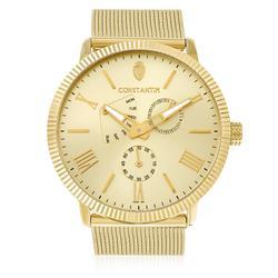 Relógio Constantim All Gold Analógico ZW20083G Fundo Prateado